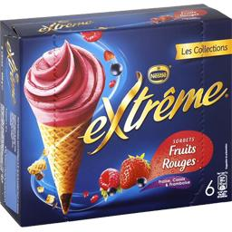 Cônes Sorbet fruits rouges