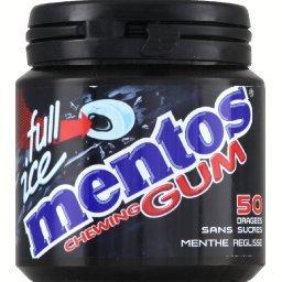 Chewing-gum Full Ice menthe réglisse sans sucres