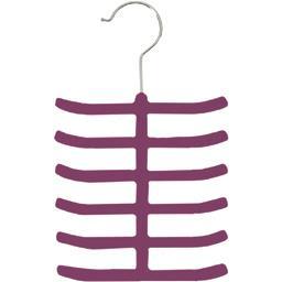 Porte cravates Technic velours slim aubergine