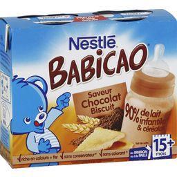 Babicao - Céréale lactée saveur chocolat biscuit, 15+ mois
