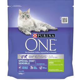 Purina One - Croquettes dinde et riz pour chat sensible