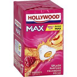 Hollywood Max - Chewing-gum parfums framboise pêche sans sucre...