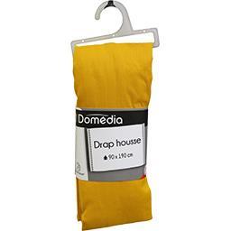 Drap housse 90x190 cm moutarde
