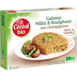 Galette millet & boulghour aux champignons BIO