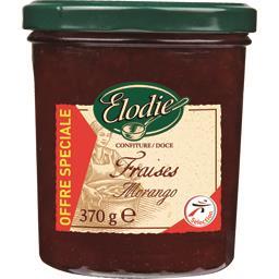 Elodie Confiture de fraises le pot de 370 gr offre spéciale