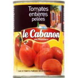 Tomates entières pelées