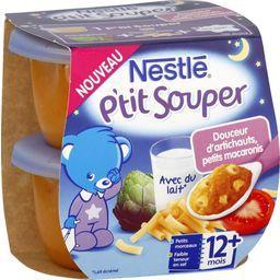 Nestlé Nestlé Bébé P'tit Souper - Douceur d'artichauts, tomates, macaro...