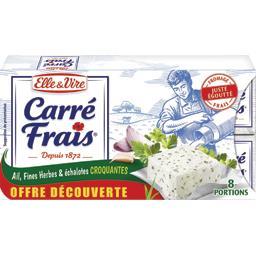 Fromage Carré Frais ail fines herbes & échalotes