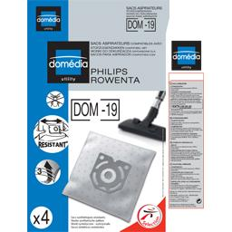 Sacs aspirateurs DOM-19 compatibles Philips, Rowenta