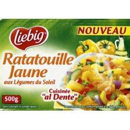 Ratatouille jaune cuisinée 'al dente'