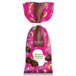 Jacquot Boules praliné chocolat noir le paquet de 250 g