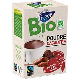 Bio Ivoria Poudre cacaoté BIO la boite de 500 g