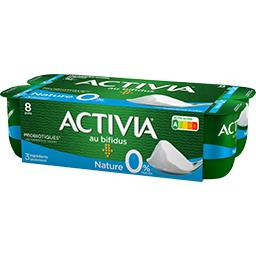 Activia - Lait fermenté maigre au bifidus 0% MG natu...