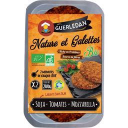 Crêperie de Guerlédan Nature et galettes BIO soja tomates mozzarella la boite de 2 - 200 g