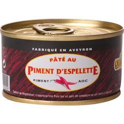 Conserverie Quatrefages Pâté au piment d'espelette La boîte de 130g