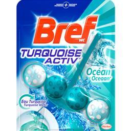 Bref WC - Bloc WC Turquoise Actvi' océan le bloc de 50 g