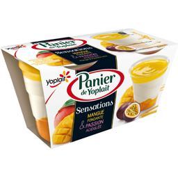 Triple Sensation - Dessert fruit de la passion/lit de mangue