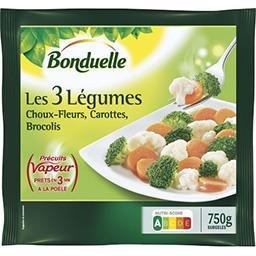 Précuit Vapeur - Les 3 légumes choux-fleurs carotte ...
