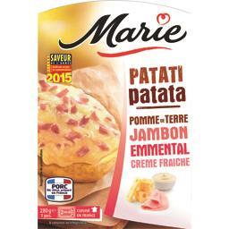 Patati patata pomme de terre jambon emmental crème fraîche