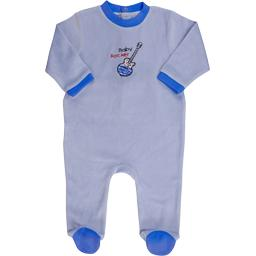 Dors-bien en velours brodé garçon 18 mois bleu