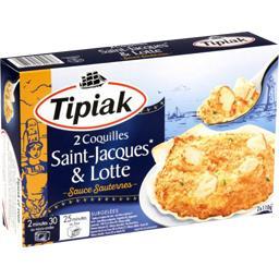 Coquilles Saint-Jacques & lotte sauce Sauternes