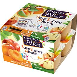 Charles & Alice Dessert de fruits pomme abricot/pommes