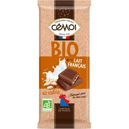 Chocolat lait français riz soufflé BIO