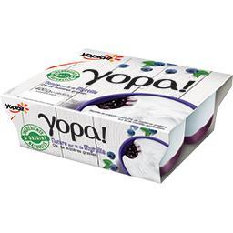 Yopa ! - Yaourt nature 0% sur lit de myrtille