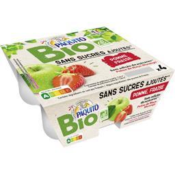 Bio Paquito Purée de pomme fraise BIO les 4 pots de 100 g