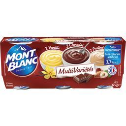 Crème dessert multivariétés