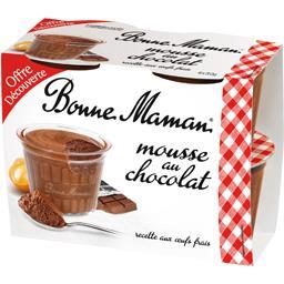 Desserts mousse au chocolat Bonne maman