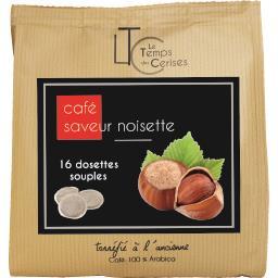 Café moulu saveur noisette en dosettes