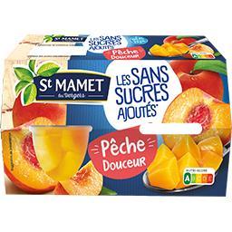 St Mamet Ma Pêche Douceur les 4 pots de 65 g net égoutté