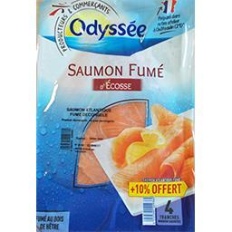 Odyssée Saumon fumé écosse le paquet de 4 tranches - 150 g