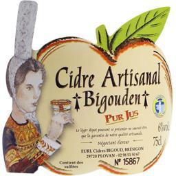 Cidre artisanal Bigouden demi-sec pur jus