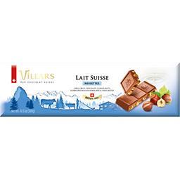 Villars Chocolat au lait suisse noisettes la tablette de 300 g