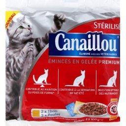 Emincés en gelée Premium thon/poulet, pour chat stér...