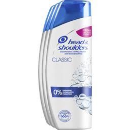 Head & Shoulders Shampooing classic antipelliculaire Le lot de 3 bouteilles de 280ml