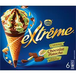 L'Original - Cônes chocolat pistache pépites de noug...