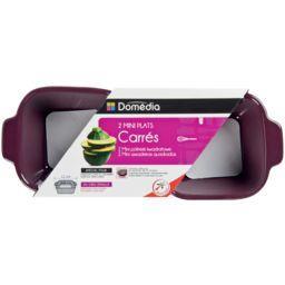 Mini plats carrés prune