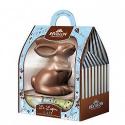Révillon Chocolatier Le Lapin lait et sa garniture lait et blanc