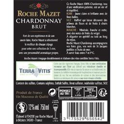 Roche Mazet Vin mousseux Chardonnay brut la bouteille de 70 cl