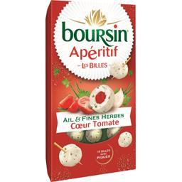 Boursin Billes de fromage ail & fines herbes cœur tomate con...