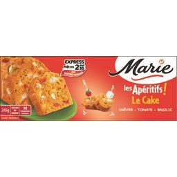 Les Apéritifs - Le Cake chèvre, tomate, basilic,MARIE,le cake, 245 g