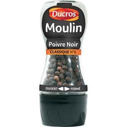 Moulin poivre noir classique force 6