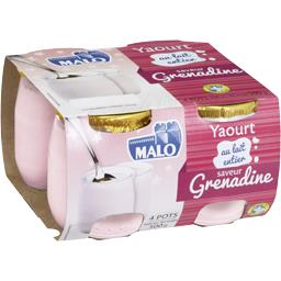 Yaourt au lait entier saveur grenadine
