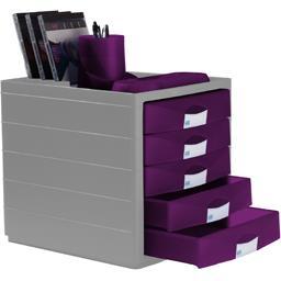 Module 5 tiroirs fermes gamme Horizon coloris assort...