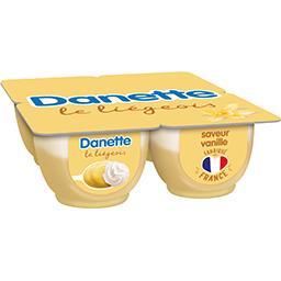 Danone Danone Danette - Dessert lacté Le Liégeois saveur vanille les 4 pots de 100 g