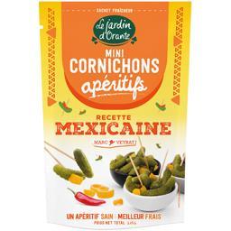 Le Jardin d'Orante Mini cornichons apéritifs recette mexicaine le sachet de 100 g