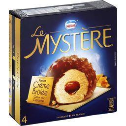 Glace Le Mystère parfum crème brûlée cœur au caramel